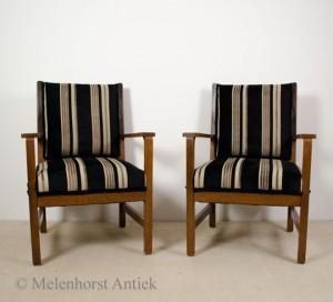 2 Amsterdamse school stoelen