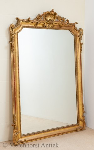 Antiker vergoldeter Spiegel