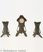 Art nouveau Pendule Set