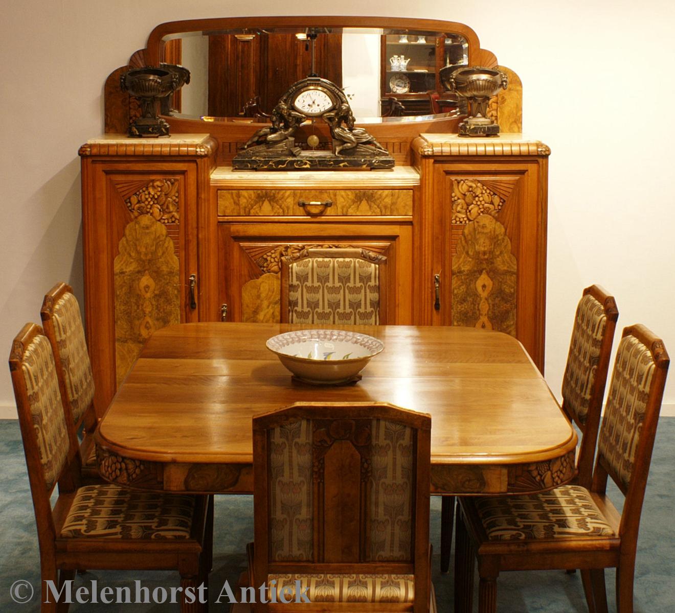 jugendstil salon meublement antike uhren melenhorst. Black Bedroom Furniture Sets. Home Design Ideas
