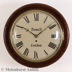 """Convex Dial Fusee Wall Clock "" mit ""shaped shoulders"""