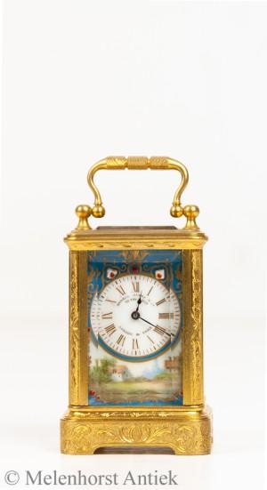 Französische Miniatur Reiseuhr